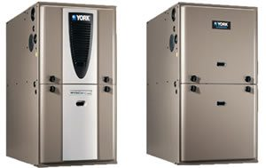 Two different styles of gas furnaces