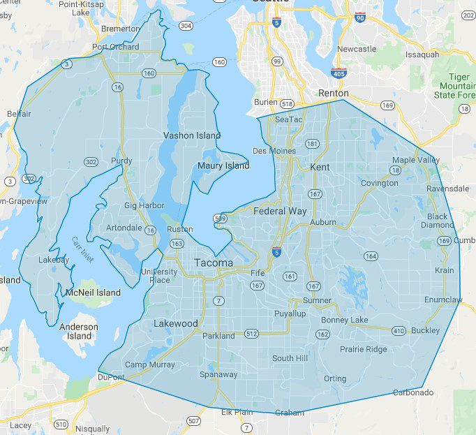 A & H Heating Service Areas King, Kitsap and Pierce County